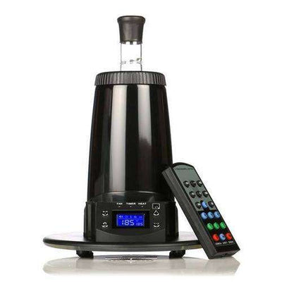 Arizer Extreme Q Vaporizer - standing with remote