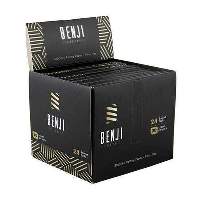 Benji Rolling Papers - 24 Booklet Pack - 20 Leaves per Pack - Box