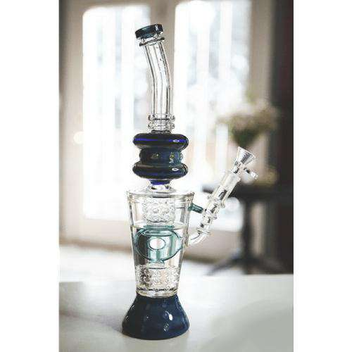 BOO BLOWOUT - Boo Glass Fire Cut Donut Perc Water Pipe