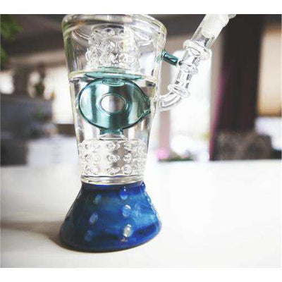 Boo Glass Fire Cut Donut Perc Water Pipe-