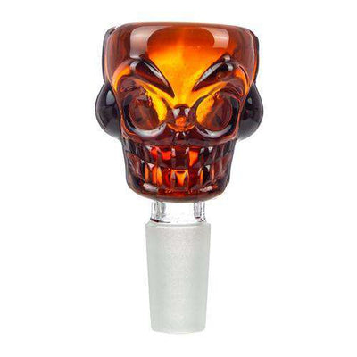 Boo Glass Skull Themed Male Replacement Bowl - 14mm Green