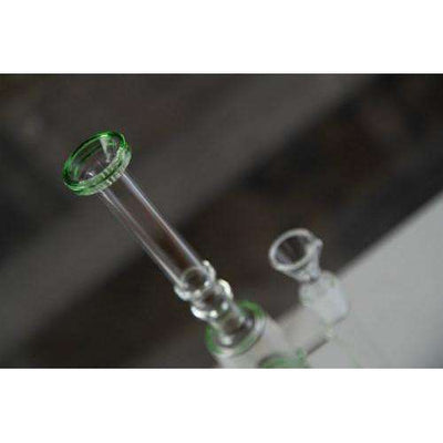 Boo Glass Triple Honeycomb Perc Skinny Water Pipe - neck and bowl