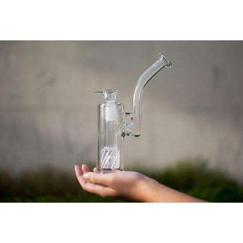 Boo Glass Upright Bubbler w/Colored Perc-Clear