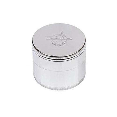 "Cosmic 3.5"" Large 4-Piece Grinder-Classic Silver"