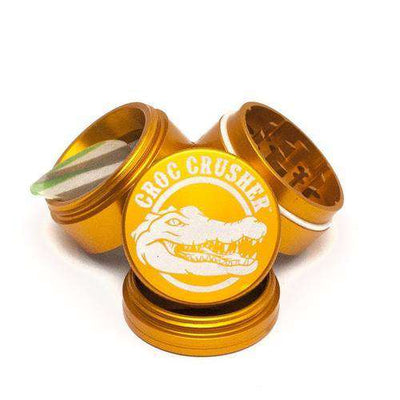 "Croc Crusher 1.5"" 4-Piece Grinder-Gold"