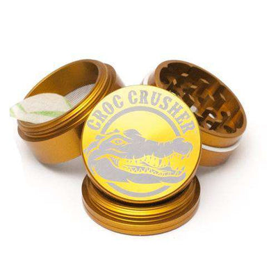 "Croc Crusher 2.0"" 4-Piece Grinder-Gold"