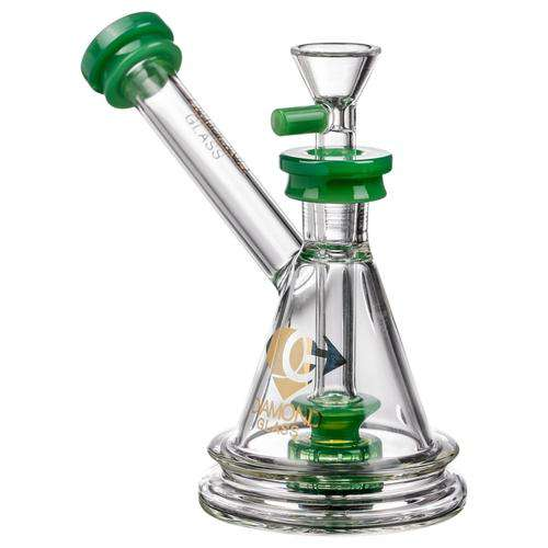 Diamond Glass Gavel Hammer Bubbler Jade