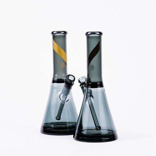 Marley Natural Smoked Beaker Glass Water Pipe
