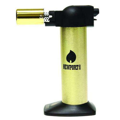 "Newport Zero 6"" Cigar Torch-Gold Black"