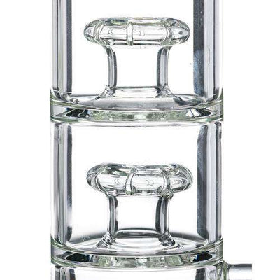 Nucleus Glass Stacked Inverted Showerhead Perc Bong-