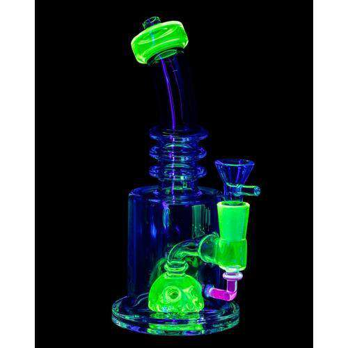 Nucleus UV Reactive Bong - Green