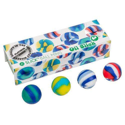 Oil Slick Ball Mini 4-Pack-Blue