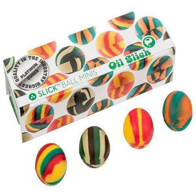 Oil Slick Ball Mini 4-Pack-Rasta