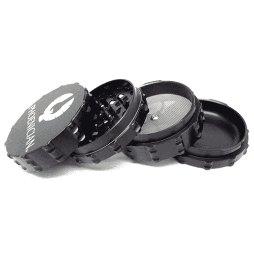 Phoenician Large 4-Piece Grinder-Black