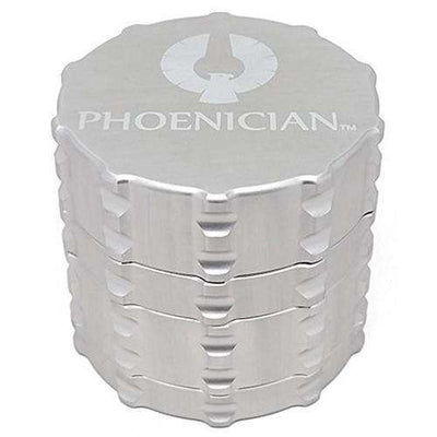 Phoenician Medium 4-Piece Grinder-Silver