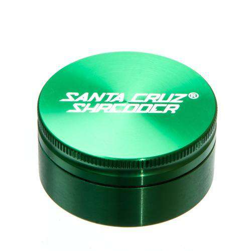 Santa Cruz Medium 2 Piece Herb Grinder - Blue