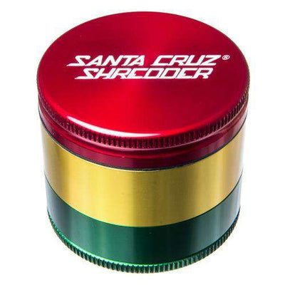 Santa Cruz Medium 3 Piece Herb Grinder - Red