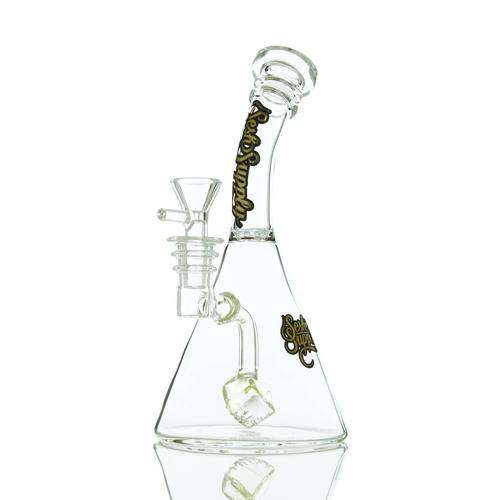 "Sesh Supply ""Hecate"" Beaker Base with Cube Perc - Periwinkle"
