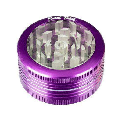 Purple-Sweet Tooth 2-Piece Pop Up Diamond Teeth Grinder