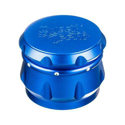 Blue-Sweet Tooth 4-Piece Diamond Crest Aluminum Grinder