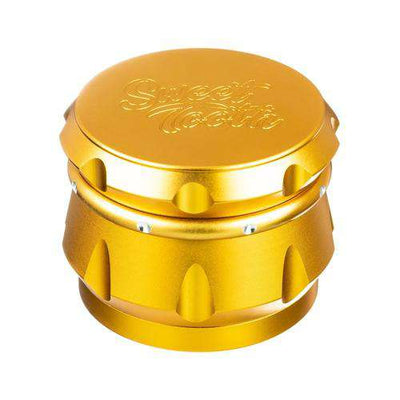 Orange-Sweet Tooth 4-Piece Diamond Crest Aluminum Grinder
