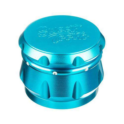 Teal-Sweet Tooth 4-Piece Diamond Crest Aluminum Grinder
