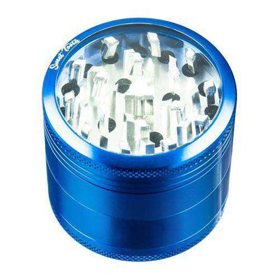 Blue-Sweet Tooth 4-Piece Medium Diamond Teeth Aluminum Grinder
