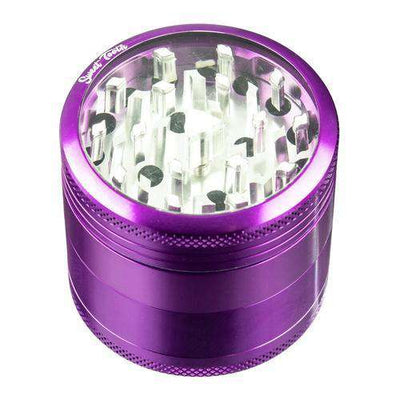 Purple-Sweet Tooth 4-Piece Medium Diamond Teeth Aluminum Grinder
