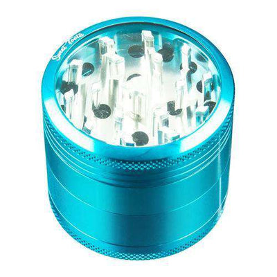 Teal-Sweet Tooth 4-Piece Medium Diamond Teeth Aluminum Grinder