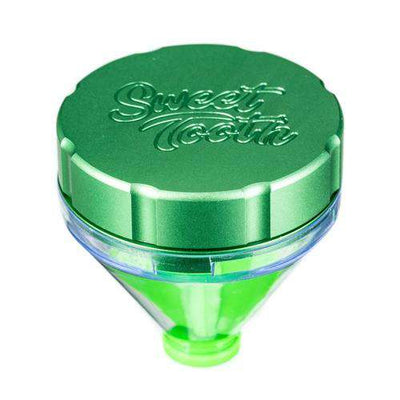 "Green-Sweet Tooth ""Fill 'er Up"" Funnel Style Aluminum Grinder"