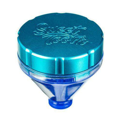 "Teal-Sweet Tooth ""Fill 'er Up"" Funnel Style Aluminum Grinder"