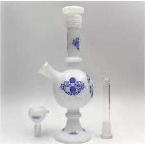 "The China Glass ""Xia"" Dynasty Vase Water Pipe - Black / Blue"