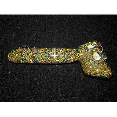 Wiggity Windows Hand-Blown Glass Dry Hammer Pipe-