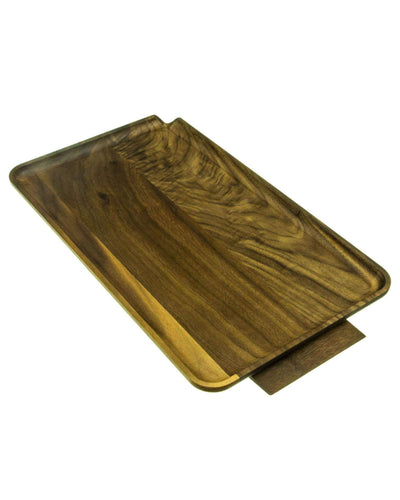 large wooden rolling tray