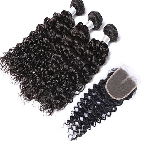 Curly 3 Bundles + Closure Deal