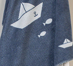 Sailboat Fluffy Blanket