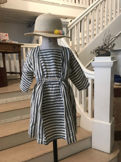 Striped Linen Dress - Mudpie San Francisco