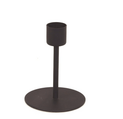Black Taper Candle Holder Medium - Mudpie San Francisco