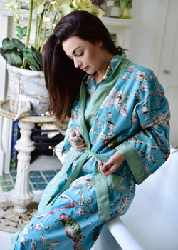 Blossom Paisley Robe Gown