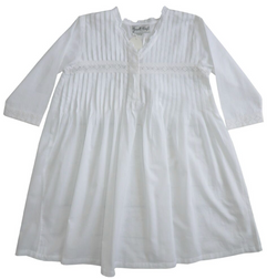 Charlotte Pin Tucked Long Sleeve Nighty Kids