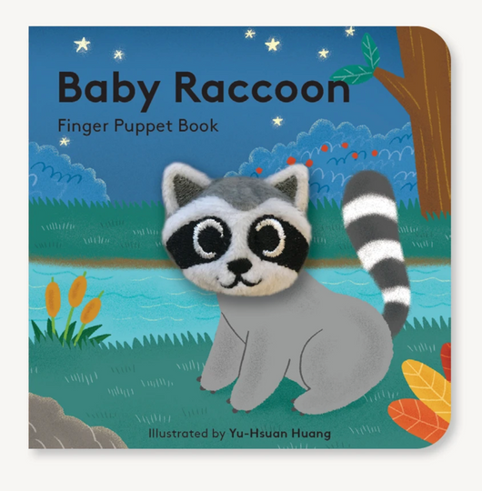 Baby Raccoon Board Book Finger Puppet