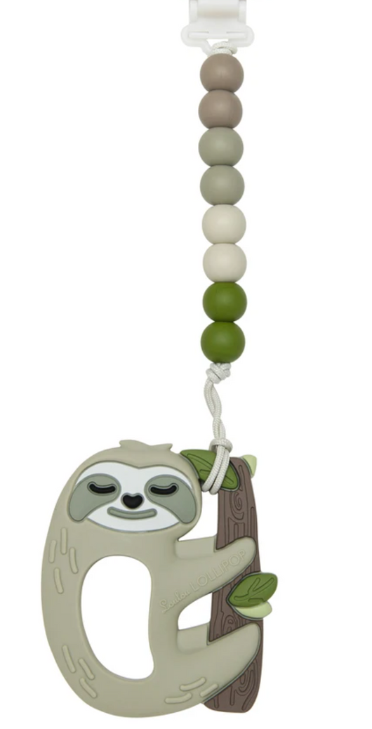 Silicone Teether Sloth Gem Set