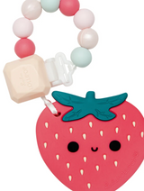 Silicone Strawberry Teether Set