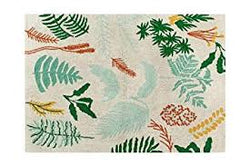 Botanic Plants Washable Rug - Mudpie San Francisco