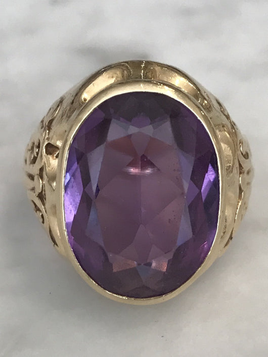Large Amethyst Ring - Mudpie San Francisco