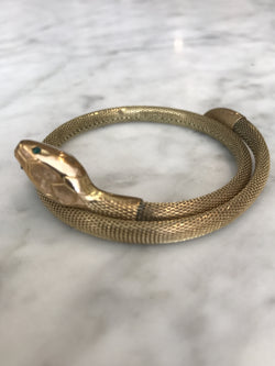Art Deco Snake Bangle