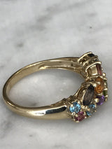 Multi-gem stone Ring