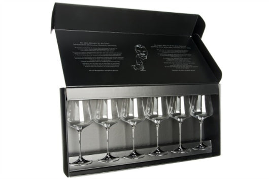 Gabriel Glas: Set of Six Wine Glasses- Gold Edition