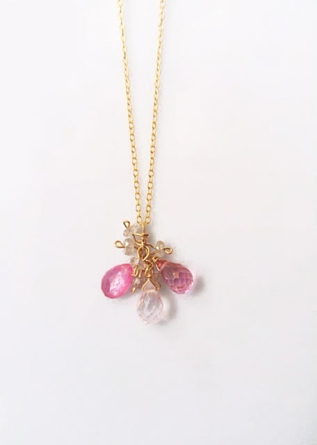 Multi-Gem Necklace-Rose Quartz Mix - Mudpie San Francisco