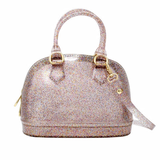 Glitter Jelly Bowling Bag - Mudpie San Francisco